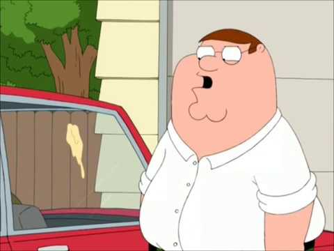 Peter Poops on Pigeons Car - Family Guy