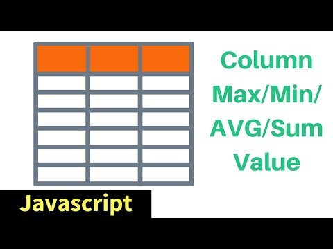 Javascript - HTML Table Column MAX / MIN / SUM / AVG Values In JS [ with source code ] #1bestcsharp