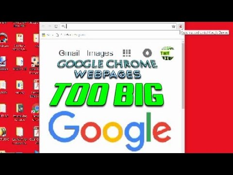 How to size your google chrome if webpages are too large-page zoom
