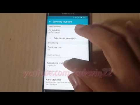 How to turn off or Disable autocorrect on Samsung Galaxy S6