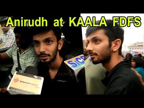 Kaala படம் பற்றி Anirudh கருத்து | Kaala FDFS at Rohini Theatre | Rajini, Pa.Ranjith | Kaala Review