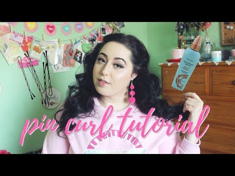 How to Pin Curl Hair | pin curls tutorial