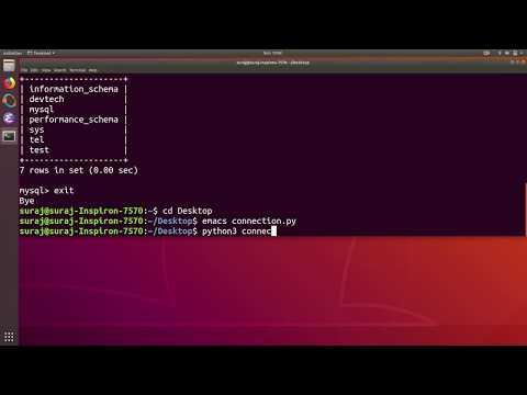 Python PyMySQL Tutorial 1 : Connect Python Application to MySQL Database