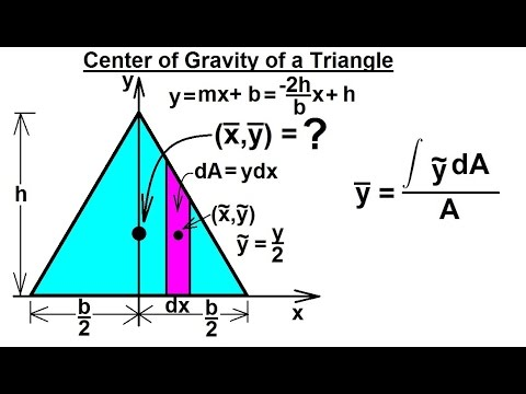 Mechanical Engineering: Centroids & Center of Gravity (7 of 35) Center of Gravity of a Triangle