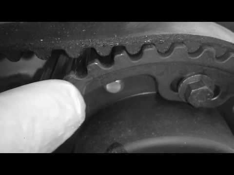 How Find TDC Timing Mark on Intake Pulley. Timing Belt Change Volvo P2 2001-2007 V70 Gas or Petrol