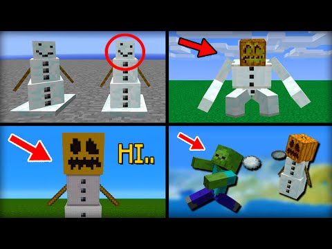 ✔ Minecraft: 15 Things You Didn't Know About the Snow Golem