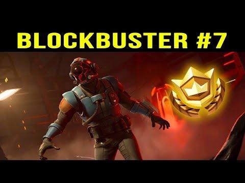 SECRET BATTLE STAR LOCATION - BLOCKBUSTER #7 - HIDDEN BLOCKBUSTER CHALLENGE - Fortnite Battle Royale