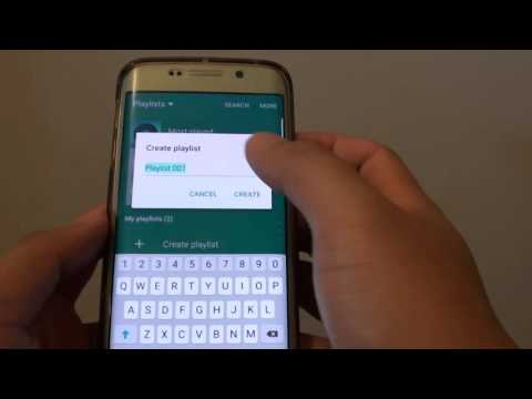 Samsung Galaxy S6 Edge: How to Create a New Music Playlist