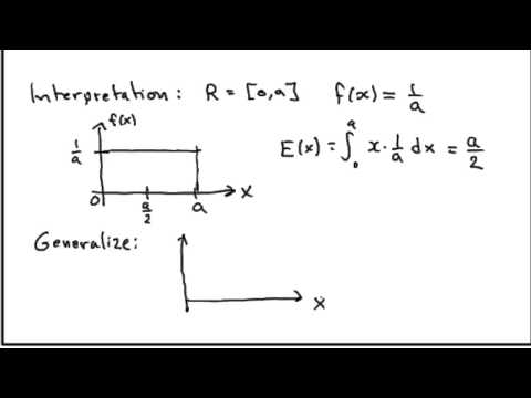 Expected value continuous random variable