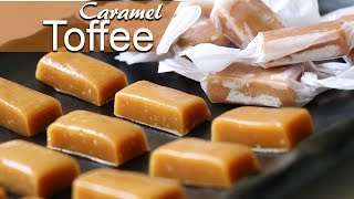 Chewy Caramel Toffee Recipe | Make Caramel Toffee at Home