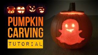 Diy Halloween Snapchat Ghost How To Carve A Pumpkin
