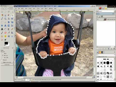 Easily Insert a person into a photo with the FREE program GIMP - can also create a collage!