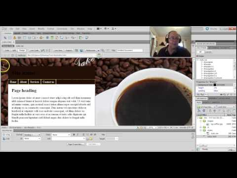 Dreamweaver - changing div background colours and opacity