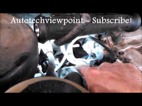 Timing belt replacement water pump  2005 Kia Sedona 3.5L V6 PART 1 Remove Replace