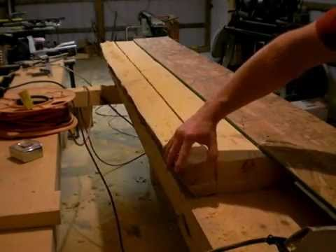 5 Building a Traditional Woodworking Bench - Part 5 - Milling the Tool Well and Lower Rails