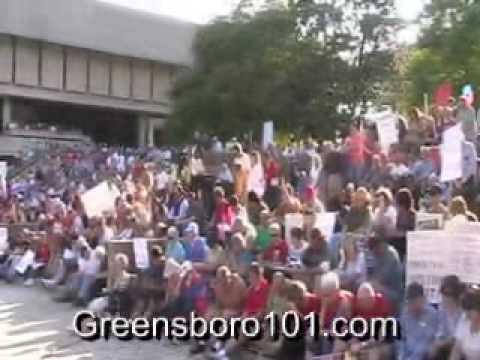 Greensboro, North Carolina Tea Party -- April 15, 2010