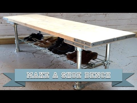 Make a DIY Bench Seat and Shoe Storage Rack with Kee Klamp and Scaffold Boards using Basic Tools