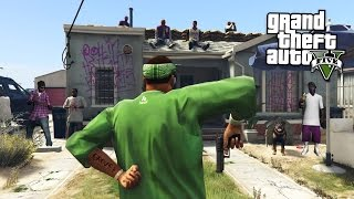 JOINING A GANG & GANG WARS!! (GTA 5 Mods)