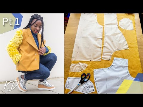 HOW TO: SEW A TEDDY COAT PT 1 | POCKETS, COLLAR & FACING | KIM DAVE