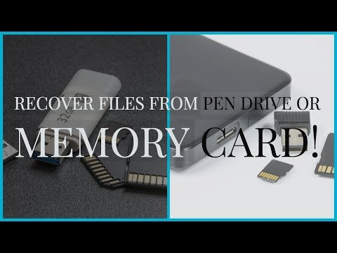 Recover Deleted Files from your Computer/USB/MemoryCard