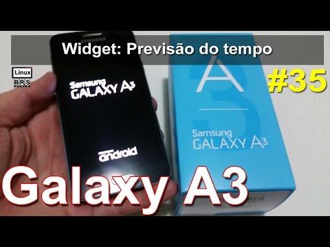 Samsung Galaxy A3 - Widget: Previsão do tempo - Português