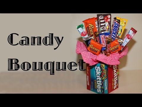 Candy Bouquet With Candy Vase
