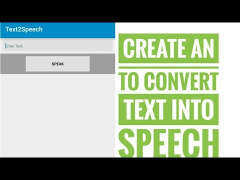 Create Text to speech converter app using sketchware.