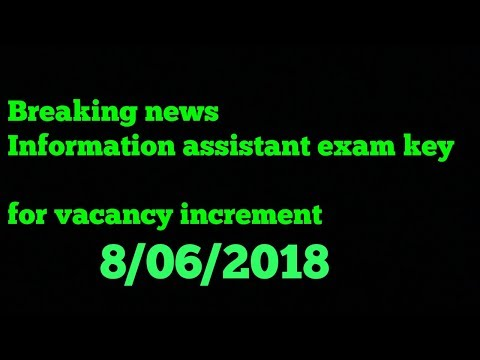 Information assistant ia 2018 answer key release soon newspaper  about vacancy increment