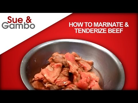 How to Marinate and Tenderize Beef stir fry