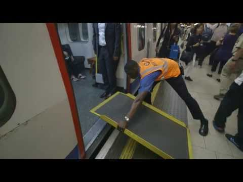 Boarding ramps on the Tube