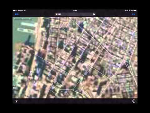 iPadの標準アプリ「マップ」はGoogleEarth的な使い方ができる件