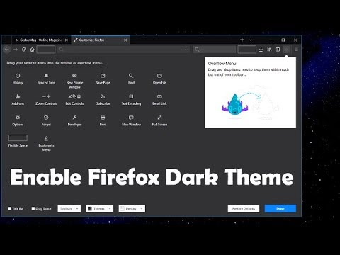How to Enable Firefox Dark Theme - Official Ways