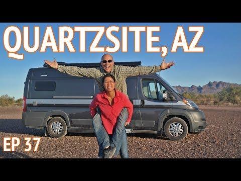 CAMPING IN THE DESERT - Quartzsite, AZ   EP37 Camper Van Life