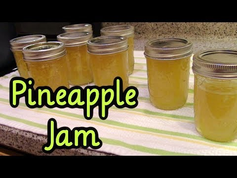 Pineapple Jam from Fresh Pineapples