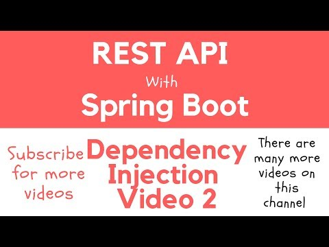 REST API with Spring Boot - Constructor Based Dependency Injection Example