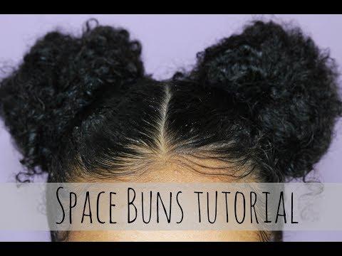 Space Buns on Short Natural Hair  Tatyana Celeste ❤︎