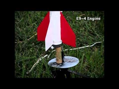 Estes Tomahawk Rocket with 808 Keychain Cam