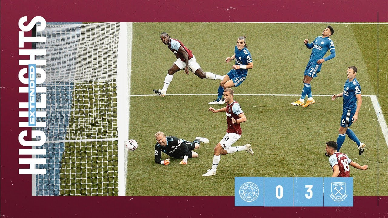 EXTENDED HIGHLIGHTS   LEICESTER CITY 0-3 WEST HAM UNITED