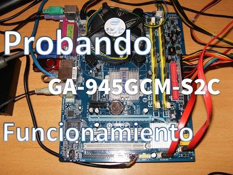 Tarjeta Madre Gigabyte GA-945GCM-S2C Socket 775 Micro ATX Intel 945GC Realtek ALC662 Audio Windows 7