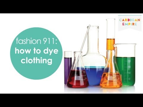 DIY: How to Dye Faded or Bleached Clothing at Home