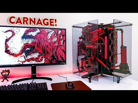 INSANE $3,300 ROG + Thermaltake 4K Gaming PC Build! (Water Cooled)