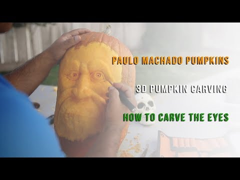 3D Pumpkin Carving - How To Carve Eyes Tutorial