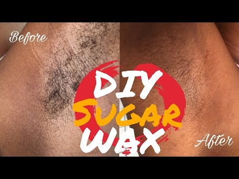HOW TO MAKE 100% NATURAL SUGAR WAX / TUTORIAL; BeautyByPosh