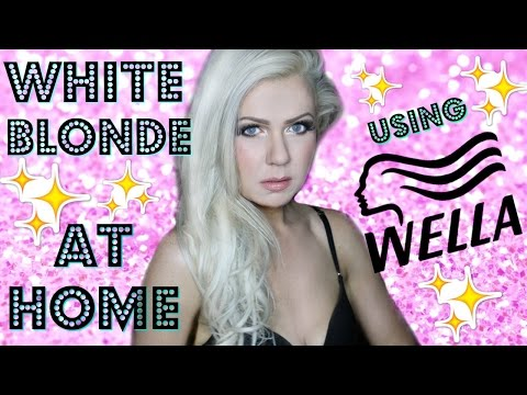 WHITE BLONDE AT HOME WITH WELLA TONER