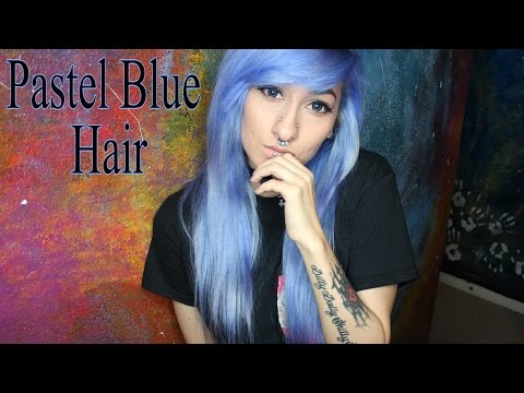 Dyeing My Hair Pastel Blue With Arctic Fox!