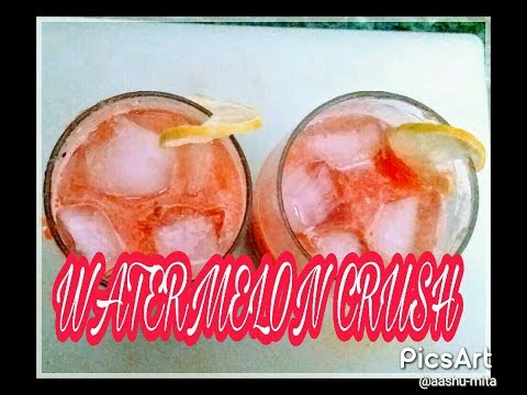 Watermelon Crusher   Mojito   Mocktail at home   By organizeandlivewithme
