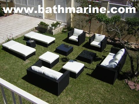 BATHMARINE.COM SYNTHETIC RATTAN GARDEN FURNITURE Outdoor Sofa Set Table Wicker Lounger Cheap Artific