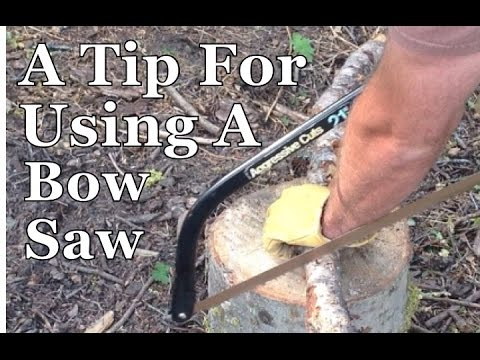 Survival Skills 101: A Bow Saw Trick for Cutting Wood.