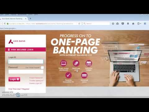 Axis Bank Internet Banking Personalized login id