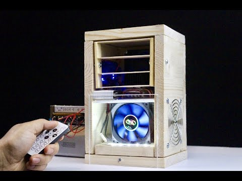 How to Make Mini Air Cooler with a Remote Control at Home-DIY